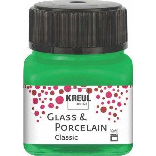 KREUL 16223 -  Glass & Porcelain Classic Grün 20 ml