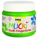 MUCKI 28105 -  Stoff-Fingerfarbe Grün 150 ml