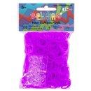 Rainbow Loom Silikon Neon Lila 300 Stück