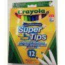 Crayola 075092 KLASSIK -  12 Supertips Einfach auswaschb....