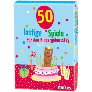 50 lustige Spiele f. d. Kindergeburtstag