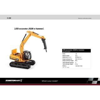 JCB Excavator JS 220 with hammer