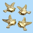 CREApop® Streuteil Taube gold ca. 2,5 cm, SB a 4 St
