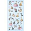 SOFTY-Stickers Katzen
