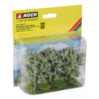 NOCH ( 25111 ) Obstbäume, weiß blühend, 3 Stück, 8 cm hoch H0,TT