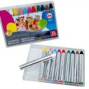 10 Schminkstifte - Karneval - in Kunststoffbox, Fasching,...