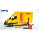 Bruder 02534 MB Sprinter DHL mit Handhubwagen und 2 Paletten
