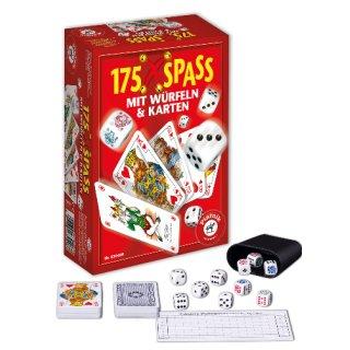 PIATNIK 630408 - Spielesammlung 175 x Spaß mit Würfeln und Karten