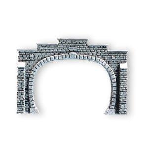 Noch 58020 Steinmauer Tunnel-Portal, 2-gleisig, 18,5 x 12,5 cm