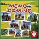 PIATNIK 659492 - Kompaktspiel Memo und Domino Traktoren