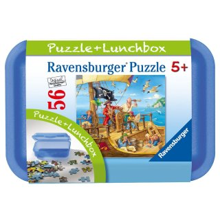 Ravensburger - Auf dem Piratenschiff, 56 Teile Puzzle und Lunchbox
