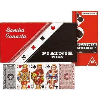 PIATNIK 269738 - Kartenspiel Standart Classic Samba Canasta - Dreifachspiel
