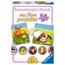 Ravensburger my first puzzles - 2,4,6,8 T. - 07331 Liebenswerte Tiere