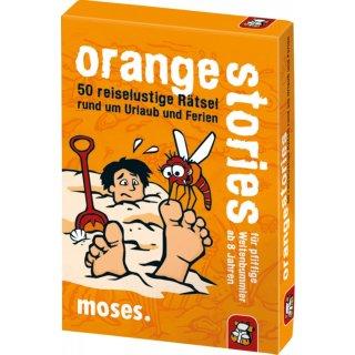 moses black stories Junior - orange stories - 50 reiselustige Rätsel rund um