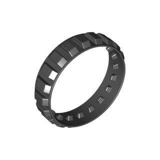 LEGO®  Gummi Reifen für Raupen/Kettenantrieb Ø151mm x 2M - Schwarz -
