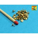 ABER 16.106 - 1:16 Turned rivets 0,9 x1,3 x 0,5mm 40 pcs