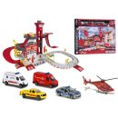 Majorette 212050019 - Creatix Rescue Station + 5 Vehicles