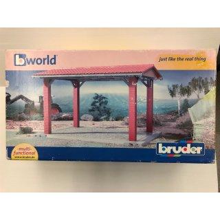 B-Ware bruder Profi-Serie bworld Gebäude-Unterstand