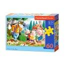 Castorland B-06519-1 Three Little Pigs, Puzzle 60 Teile