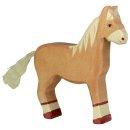 HOLZTIGER 80033 - Pferd, stehend, hellbraun