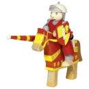 GOKI 51720 - Biegepuppe Ritter Artus mit Pferd