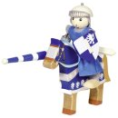GOKI 51735 - Biegepuppe Ritter Lancelod mit Pferd