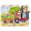 GOKI 57839 - Würfelpuzzle Jahreszeiten auf dem...