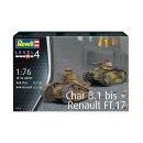 REVELL 03278 - Char B.1 bis & Renault FT.17 1:76