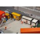 FALLER 130136 - 4 Baucontainer, gelb-schwarz