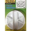 Farbschale mit Pinselhalter Durchmesser ca. 76 mm
