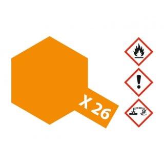 Tamiya  X-26 Klar-Orange glänzend 23ml