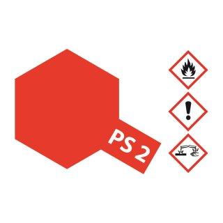 Tamiya  PS-2 Rot Polycarbonat 100ml