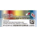 AFV-Club: Sticker anti reflection for M1A1 M1 M2 in 1:35