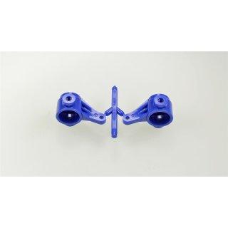 Tamiya 300445246 - TA02/FF01 Achsschenkel vorn blau (2)
