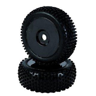 CARSON 500405288 1:8 Reifen-/Felgenset Dish, schwarz 2St.