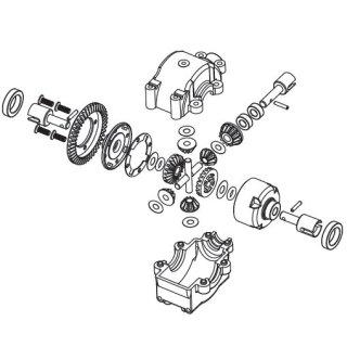 CARSON 500405326 FY8/5 Differenzial v/h komplett
