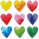 PRACHT DD3-026 - DIAMOND DOTZ Regenbogen Herzen