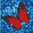 PRACHT DD5-020 - DIAMOND DOTZ Schmetterling rot 30,5x30,5 cm