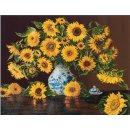 DIAMOND DOTZ Sonnenblumen in China Vase 71,12x55,9 cm