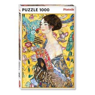 PIATNIK 552748 - PUZZLE 1000 T. Klimt - Dame mit Fächer