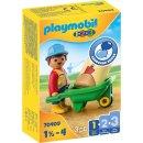 PLAYMOBIL 70409 Bauarbeiter mit Schubkarre