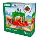 BRIO 33476 - Lok-Drehscheibe mit Kontrollbrücke
