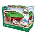 BRIO 33474 - Mitnehm-Lokschuppen mit Reisezug