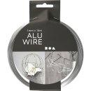 Aluminiumdraht, Stärke: 1 mm, Silber, rund, 16m