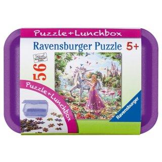 Ravensburger Puzzle + Brotdose - Einhorn und Prinzessin