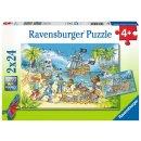 Ravensburger 2 X 24 Teile 5089 - Die Abenteuerinsel
