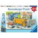 Ravensburger 2 X 24 Teile 5096 - Müllabfuhr und...