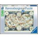 Ravensburger 1500 Teile 16003 - Weltkarte mit...