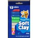 Soft Clay Knetmasse, Sortierte Farben, 200g