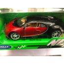 WELLY 24077W Bugatti Chiron, rot/schwarz, 2016